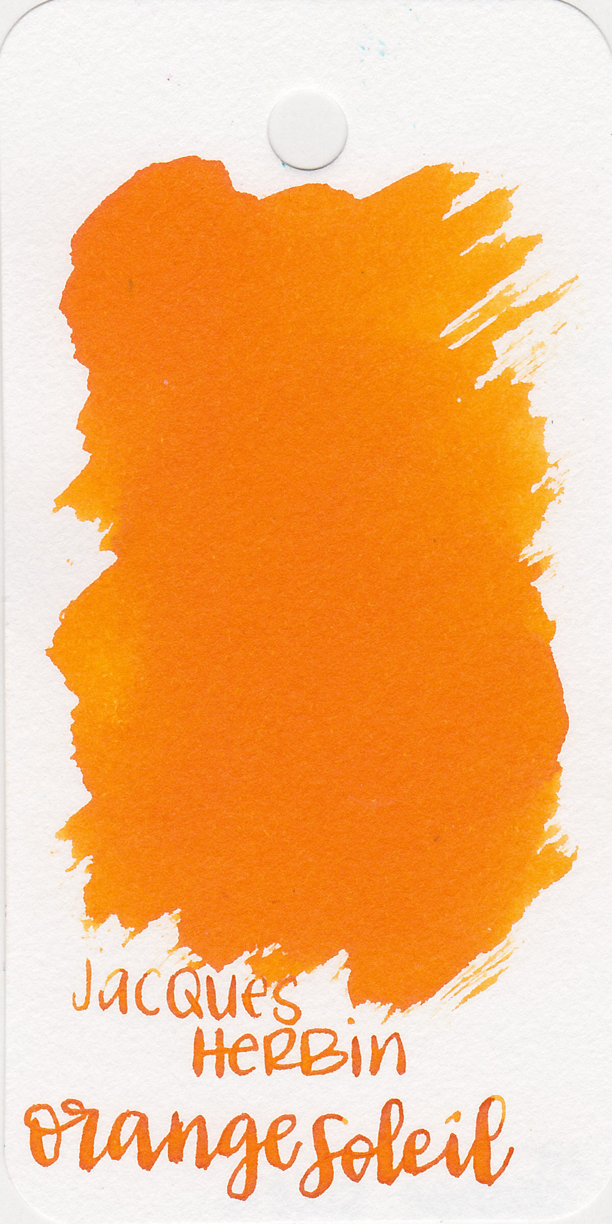 The color: - Orange Soleil is a vibrant medium orange with a slight red undertone.