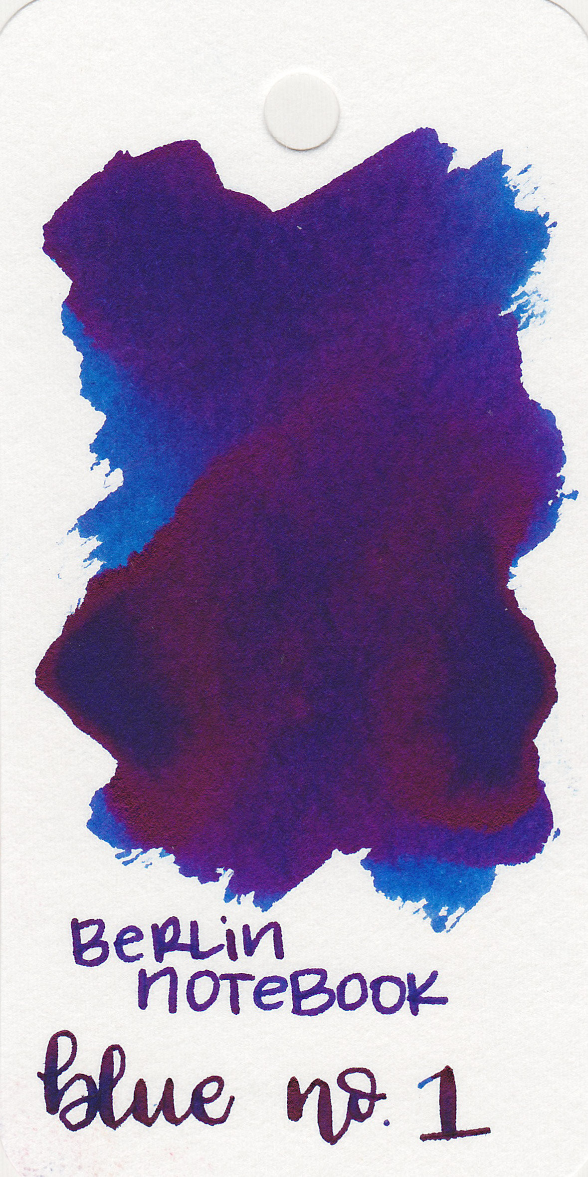 The color: - Blue No. 1 is a bright saturated blue with some dark red sheen.