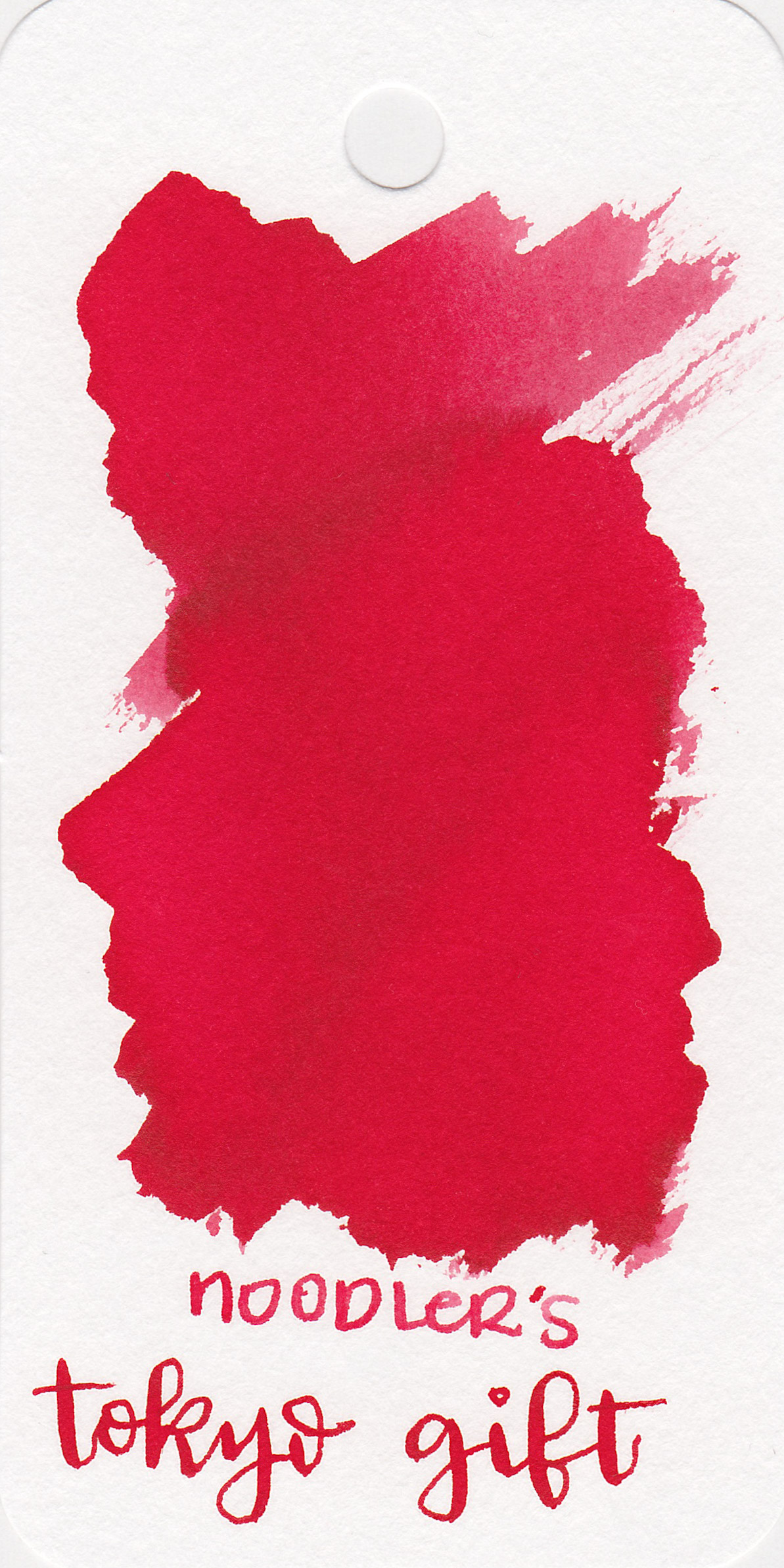 The color: - Tokyo Gift is a medium red. The ink is described as pink most places, but all I see is red.