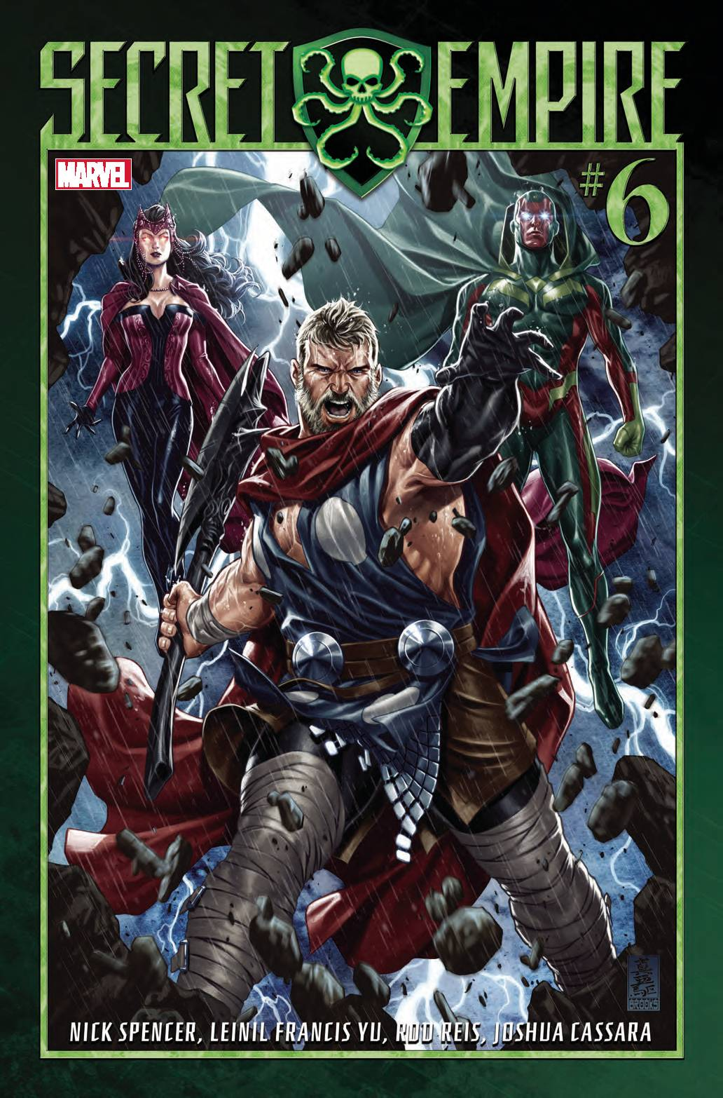SECRET EMPIRE #6 (OF 10) - MARVEL COMICSWritten by Nick SpenderArt by Leinil Francis YuThe unworthy, the untrusted, the unstable - this is their day! BEWARE THE SECRET EMPIRE!