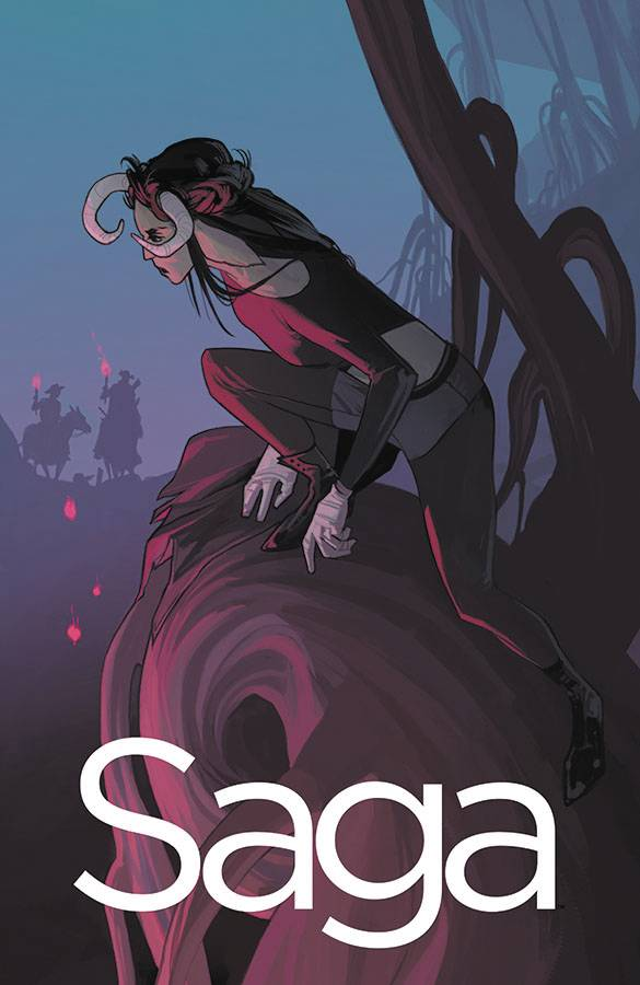 SAGA #45 - IMAGE COMICSWritten by Brian K. VaughanArt by Fiona StaplesAs Hazel and her family venture into the Badlands, their newest companion is left to hold down the fort on her own.