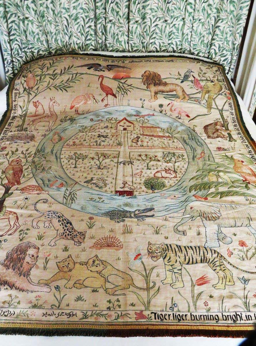 The Homestead and the forest cot quilt