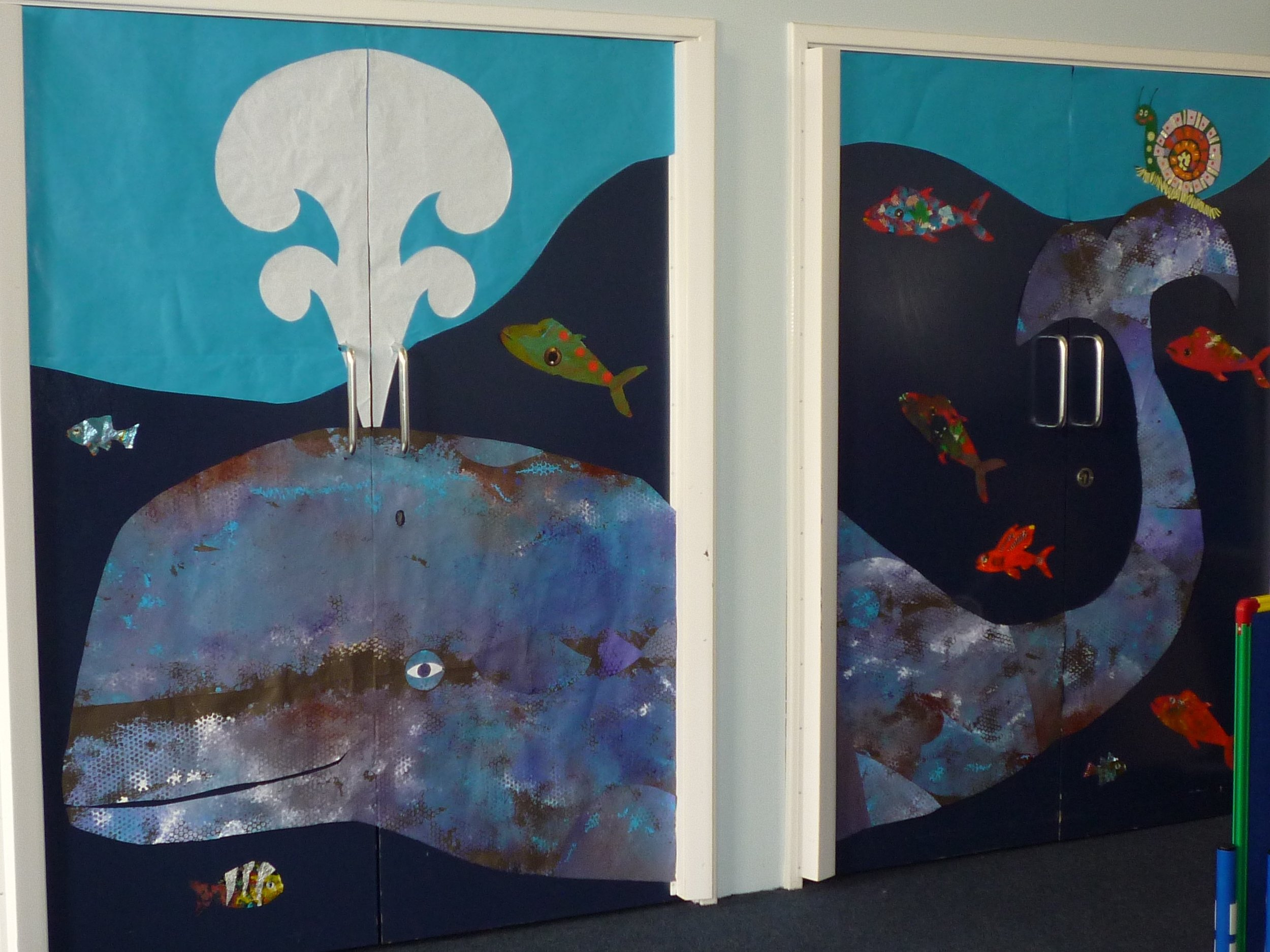 Mural, 'Whale and the snail'