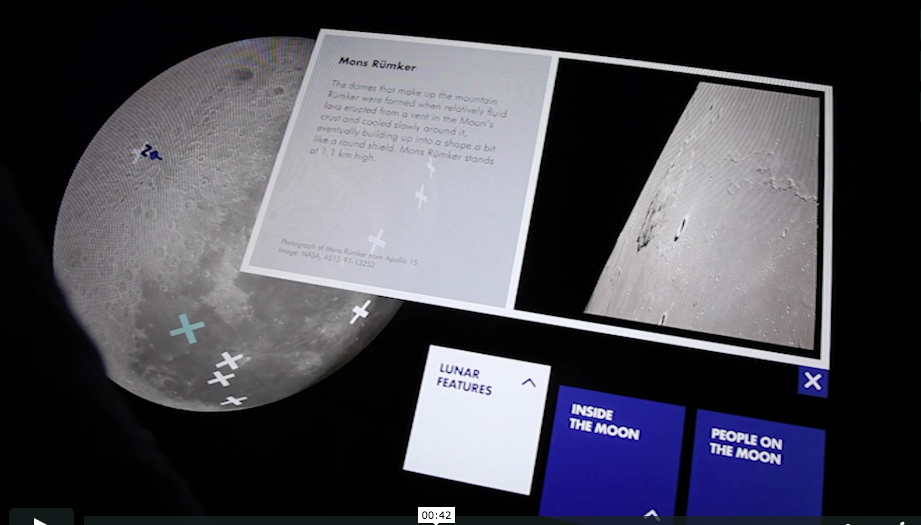 Moon interactive by Kin design at Maritime museum's Moon exhibition