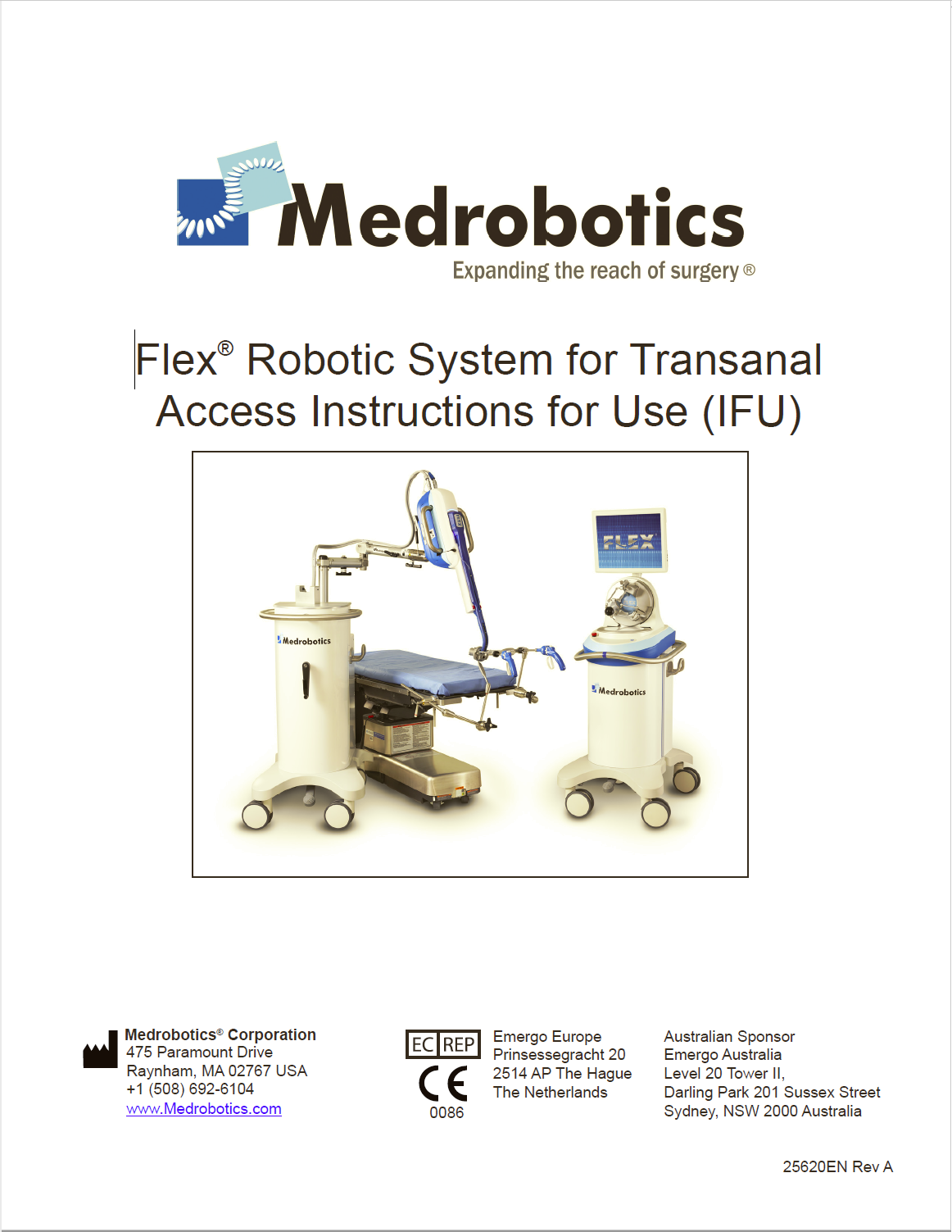 IFU – Medical Robotic Device