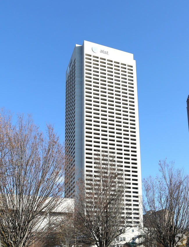 Image of Atlanta's AT&T Midtown Center, which AT&T already announced plans to depart. By: Jacquelyn Ryan and Tony Wilbert
