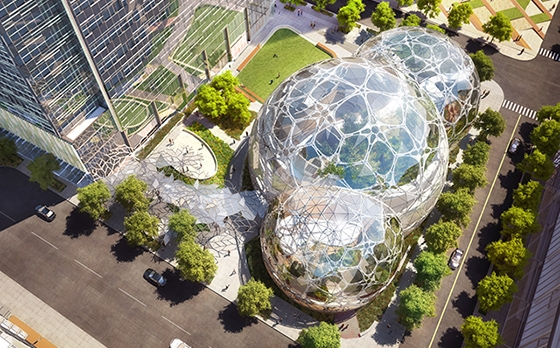 A new survey says Amazon will locate its second headquarters in Northern Virginia. Pictured is Amazon's Seattle campus.