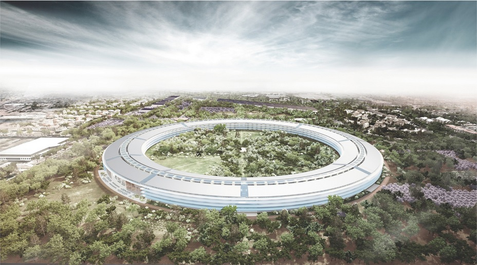 Apple Park, the current headquarters of Apple, in Cupertino, California. Credit: Norman Foster via Flickr.