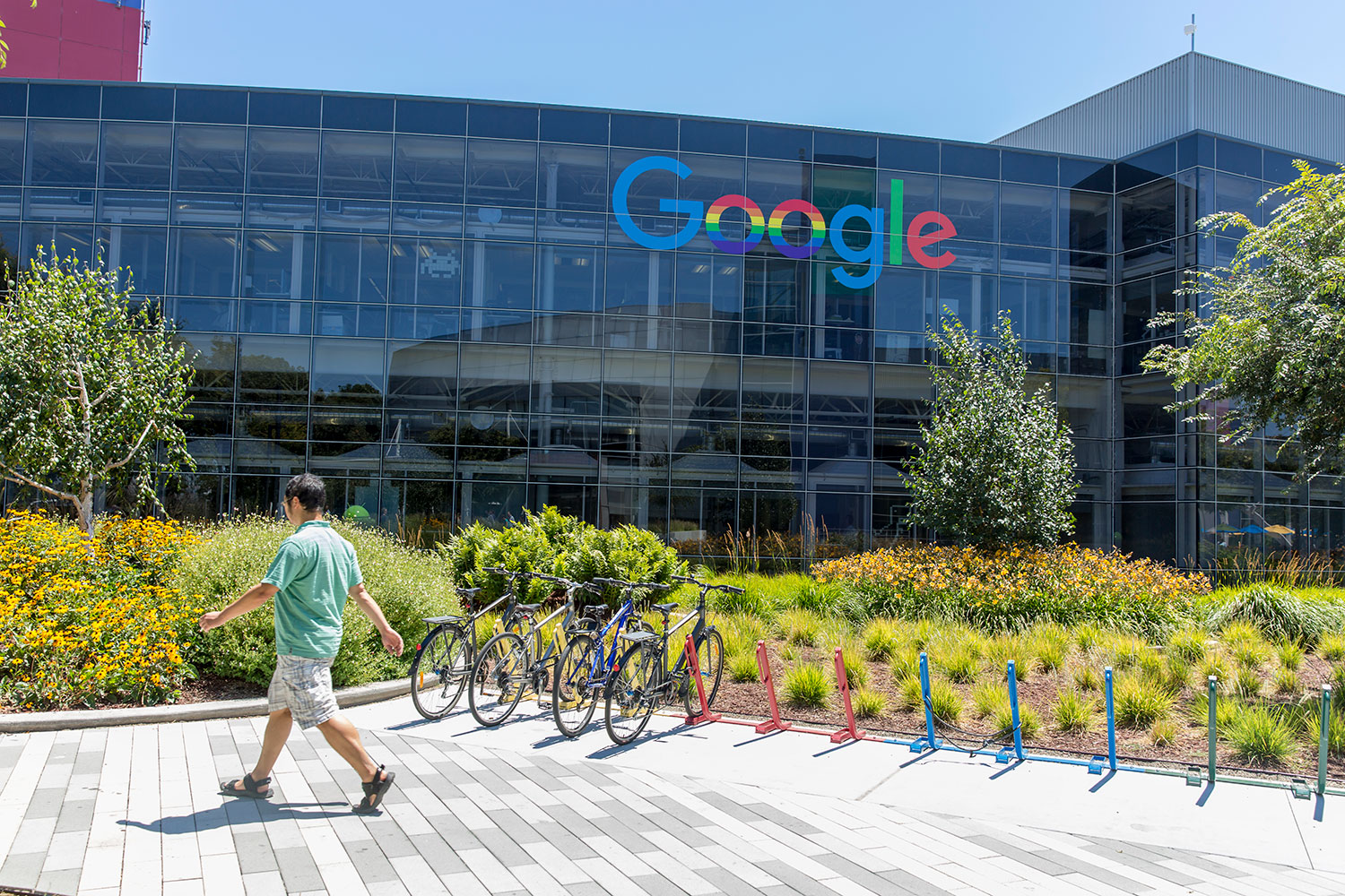 Google's headquarters neighborhood, above, is expanding after it bought an 11-building office park nearby in Mountain View, California.