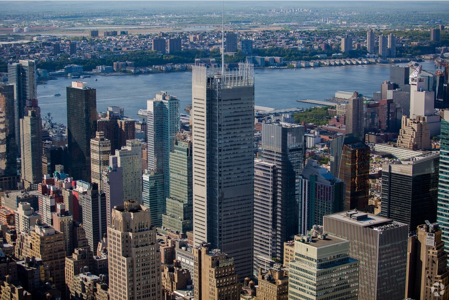 Brookfield's holdings include the New York Times building in Times Square. Photo: CoStar