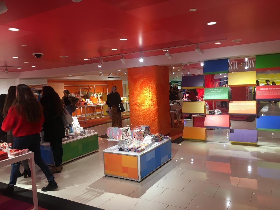 Color is the theme of Macy's STORY, as shown here in Herald Square. Photo: Diana Bell for CoStar