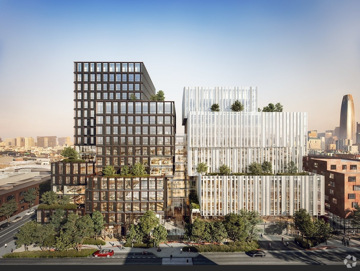 Pinterest has signed on for 490,000 square feet at 88 Bluxome St. in San Francisco. Rendering: Alexandria Real Estate Equities
