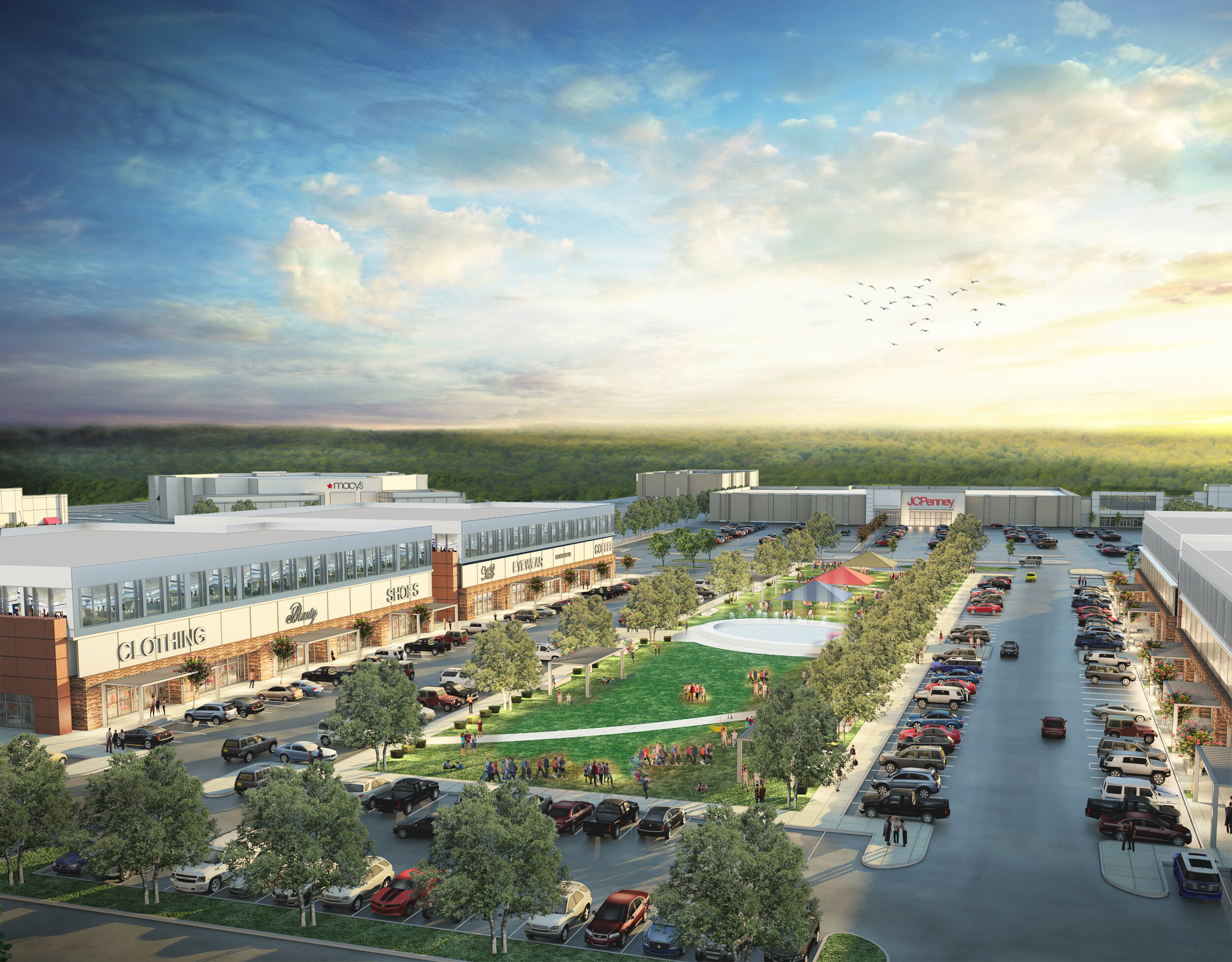 San Jacinto Mall, named after the 1836 battle that led to Texas winning its independence from Mexico, is getting transformed into an open-air district in Baytown, Texas, outside Houston. (Fidelis Realty Partners)