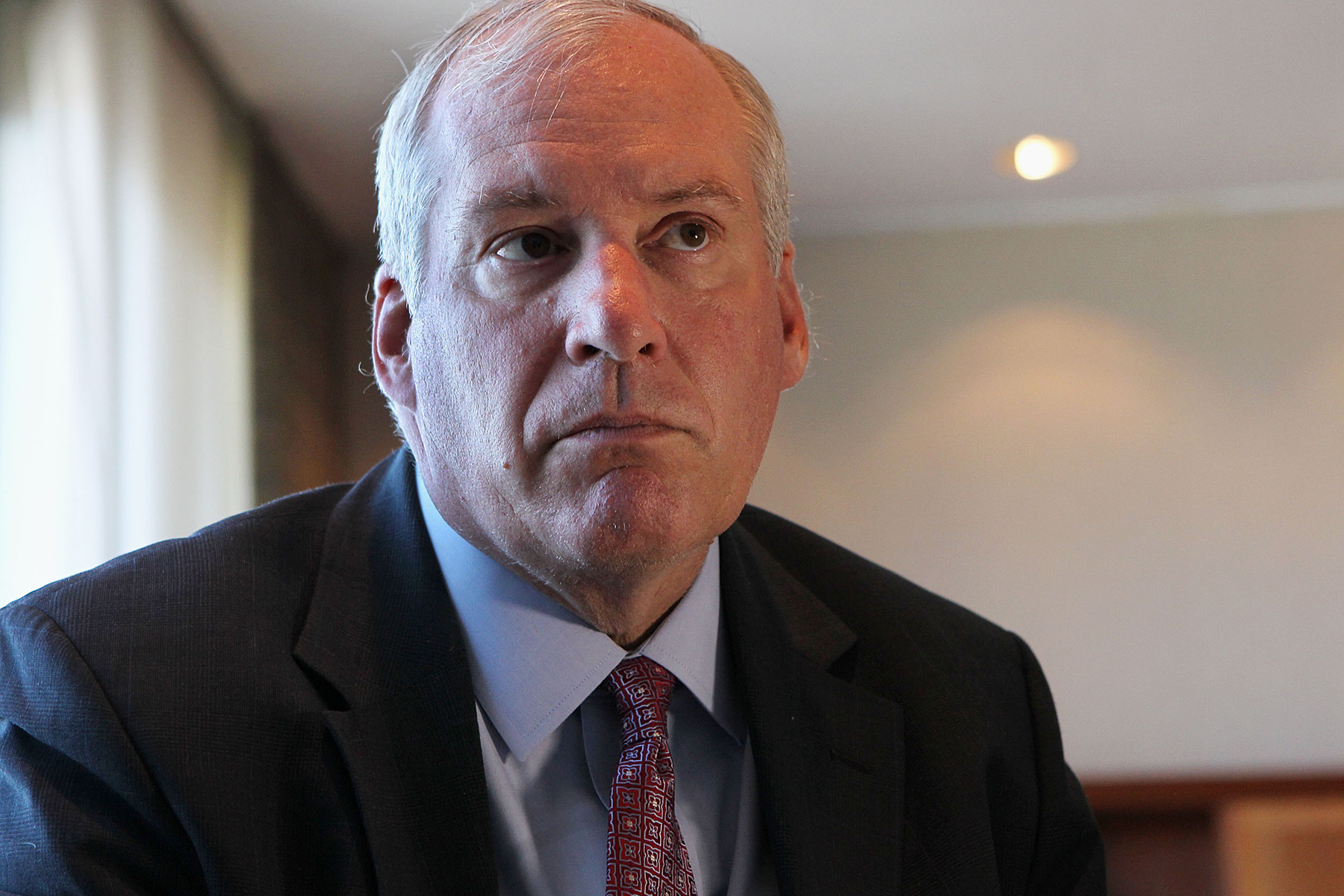 Boston Federal Reserve Bank President Eric Rosengren expressed concern about the shared office provider industry. (The Boston Globe/Getty Images)