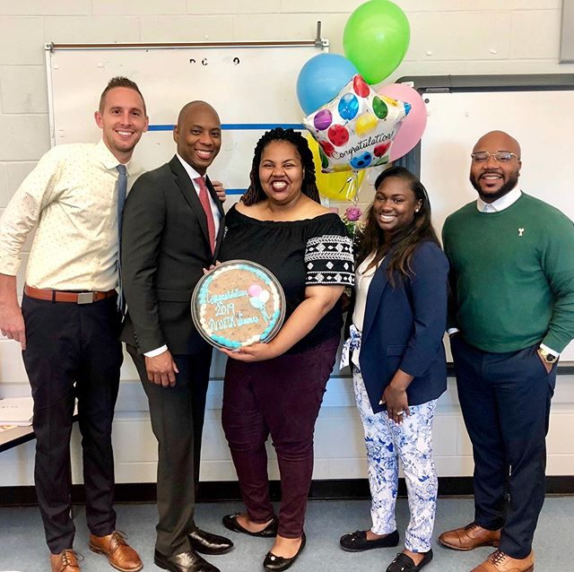 We'd like to send a very special congratulations to 3rd & 4th grade science teacher, Ms. Ashlee Bush-Davis, who was honored today with a New Orleans Excellence In Teaching award! We're incredibly proud — and inspired by your outstanding work. 📚  Thanks to @orleansparishschoolboard Superintendent Dr. Henderson Lewis and his team for delivering the award to Ms. Bush-Davis at DTA. #renewschools #nola #nolaed #noeta