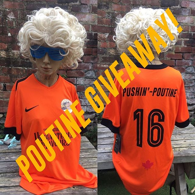🚨COMPETITION TIME🚨  That's right people, we're giving the chance for one lucky #GravyBae to win a limited edition Gravy Train football jersey (modelled by the lovely Sandra) as well as 5 free poutines of their choice to claim either at one of our pop up stalls or at our @cutleryworks kitchen 😮🍟🧀  Simply follow the instructions in photo #2 for your chance to win ✌🏼  Competition closes on October 3rd @ 5:00PM⏰  Best of luck! 💛  Facebook     The Gravy Train Poutine  - Gravy Train HQ x