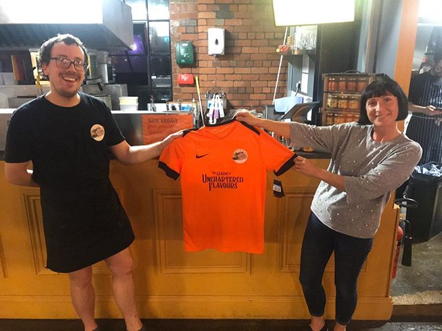 Proud to welcome the newest recruit of #GravyTrainFC - our competition winner Le-Anne Manley! 💪🏼   These limited edition eye catching jerseys are now for sale for no more than £25 fine English pounds (absolute bloody steal) 💸  Hit us up in the DM's if you'd like to get your hands on one of the remainders 📩  Happy Friday ✌🏼❤️