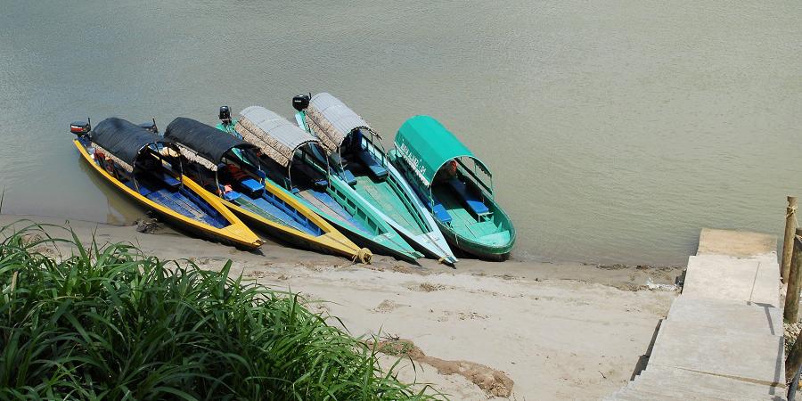 The 'lanchas' or long narrow river boats, cost around 600 pesos ($50).
