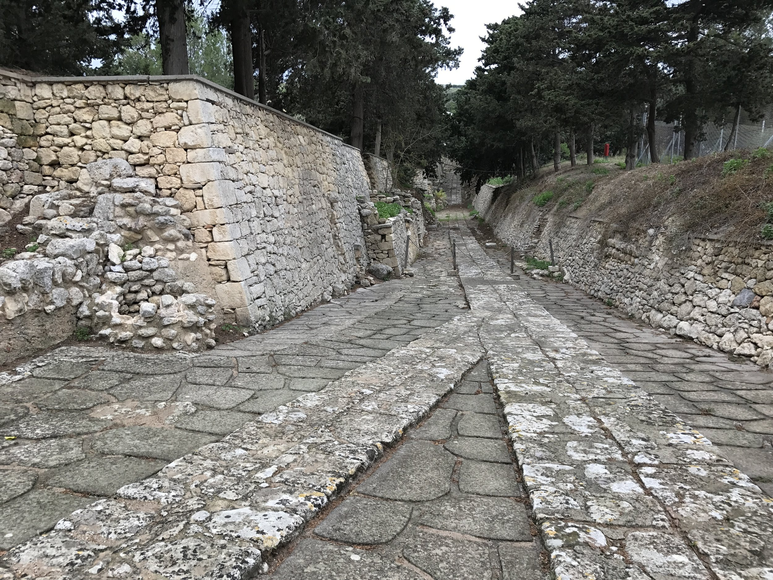 If I remember correctly, this is the road that led into the main entrance of Knossos. Thousands of people traveled here to conduct business.