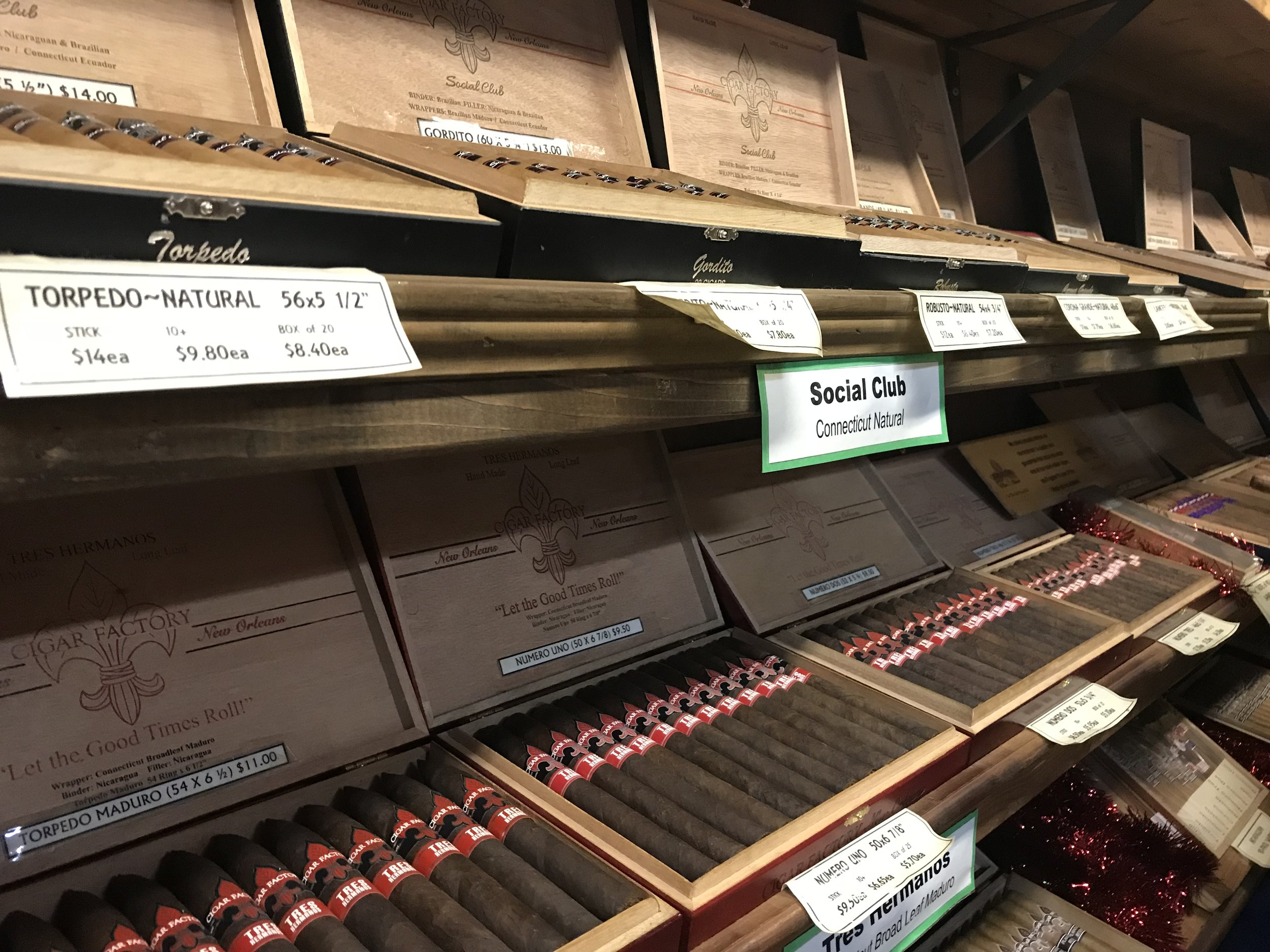 You can purchases hand-rolled cigars directly from Cigar Factory New Orleans.