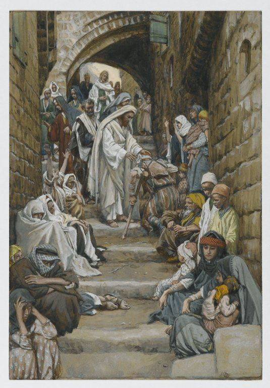 James Tissot (French, 1836-1902).  In the Villages the Sick Were Presented to Him (Dans les villages on lui présentait des malades) , 1886-1896.