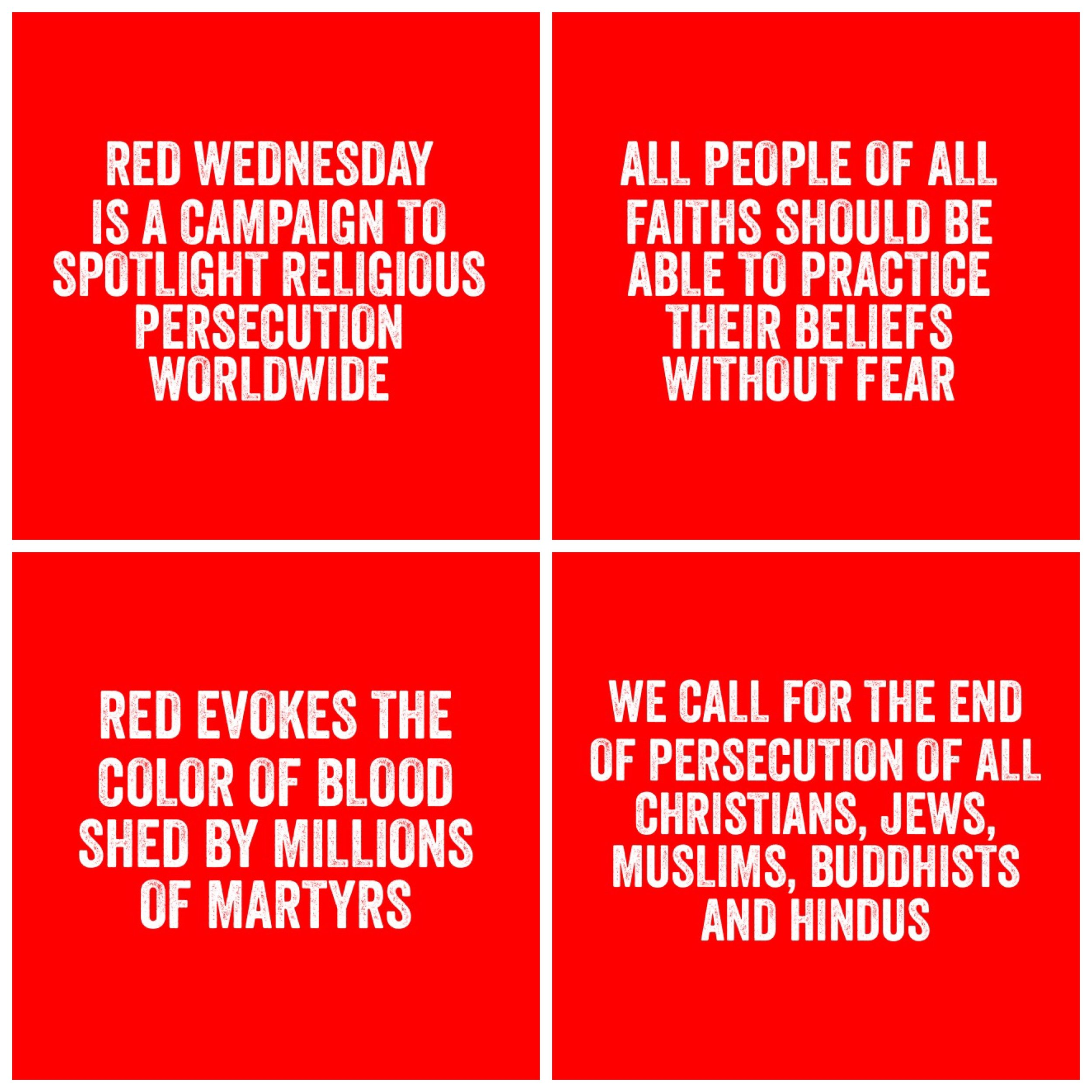 Let's enjoy our forgiveness and freedom to believe together. - And in the spirit of solidarity, take a #RedWednesday selfie, tag us @calstgnyc and @redwednesdaynyc, and share it on social media with the hashtag #RedWednesday.