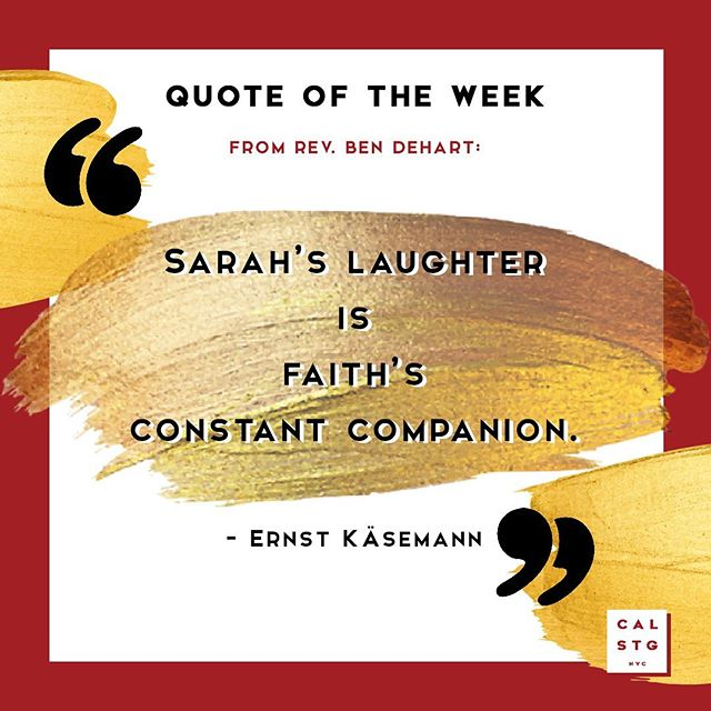 WHO'S YOUR CONSTANT COMPANION? 🤔 Share yours below. . Our very own Rev. Ben shares this quote from the late biblical scholar Ernst Käsemann in his latest article as he reflects on Abraham and Sarah's story in the book of Genesis. The whole piece is landing in your inbox tomorrow (due to Independence Day, it's coming your way a day early. Yay! 😉) so keep your eyes peeled for it. . If you haven't already, sign up to our free weekly e-newsletter now - simply head to ➡️ https://www.calvarystgeorges.org/about/#contactus . On another note, Rev. Ben will be preaching LIVE from the pulpit at CalStG this Sunday! 🙏🙌 Can't wait to enjoy our forgiveness with you at church: SUNDAY SERVICES St George's ⛪ | 8:30am & 10am Calvary ⛪ | 11am . . . #calstgnyc #jesus #god#bible #gospel #grace #forgiveness #church #episcopal #nycchurch #churchlife #sundayfunday #nycweekend #nycsunday #worship #liturgy #praisethelord #preach #sermon #grace #enjoyyourforgiveness #nycsummer