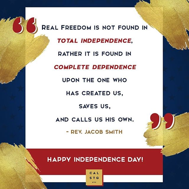 🇺🇸 Blessed to be free. 🇺🇸 From Rev. Jake and the CalStG family to you: Enjoy your freedom, forgiveness, and birthday, America! 🙏 . #independenceday #independence #usa #happybirthdayusa #america #freedom #july4th #love #happyfourth #fourthofjuly #calstgnyc #nycsummer #holiday #blessed