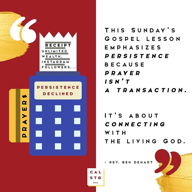 ❤️ this post if you've ever treated prayer like a transaction with God. (We certainly have!) . Let's learn more about prayer and how it fits into our daily lives. How? By simply enjoying your forgiveness with Rev. Ben and the rest of the CalStG fam at this Sunday's services: St George's ⛪ | 8:30am & 10am Calvary ⛪ | 11am . . . #calstgnyc #jesus #god #bible #gospel #grace #forgiveness #church #episcopal #nycchurch #churchlife #sundayfunday #nycweekend #nycsunday #worship #liturgy #praisethelord #preach #sermon #grace #enjoyyourforgiveness #nycsummer #nyc #nyc #nyclife #pray #prayer #praying #miracle #blessed