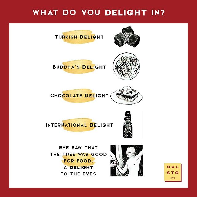 "WHICH ""DELIGHTFUL"" TREAT WOULD YOU PICK? Share below please, then swipe 👈 to see the bigger and arguably better question Rev. Jim Munroe is asking us today. . The dictionary defines ""delight"" as ""a high degree of gratification or pleasure"". Do you think the Lord has a high degree of gratification or pleasure in us? . Here's Rev. Jim Munroe's honest response: ""He'd take a whole lot more pleasure in me if I got my act together in that one area. He'd delight in me if I stopped doing that one thing. He'd take delight in me if I tithed, if I studied the Bible, if I prayed, if I forgave - if, if, if."" . That's not the end of it though... To out how the Lord got a word in edgewise, check out Jim's latest e-news piece waiting for you to enjoy in your inbox. Happy reading! . . . If you haven't already, feel free to sign up to our weekly e-newsletter now - simply head to ➡️ https://www.calvarystgeorges.org/about/#contactus . . . #calstgnyc #jesus #god #bible #gospel #grace #forgiveness #church #episcopal #nycchurch #churchlife #sundayfunday #nycweekend #nycsunday #worship #liturgy #praisethelord #preach #sermon #grace #enjoyyourforgiveness #nycsummer#nyc #nyc #nyclife #pray #prayer #praying #miracle #blessed"