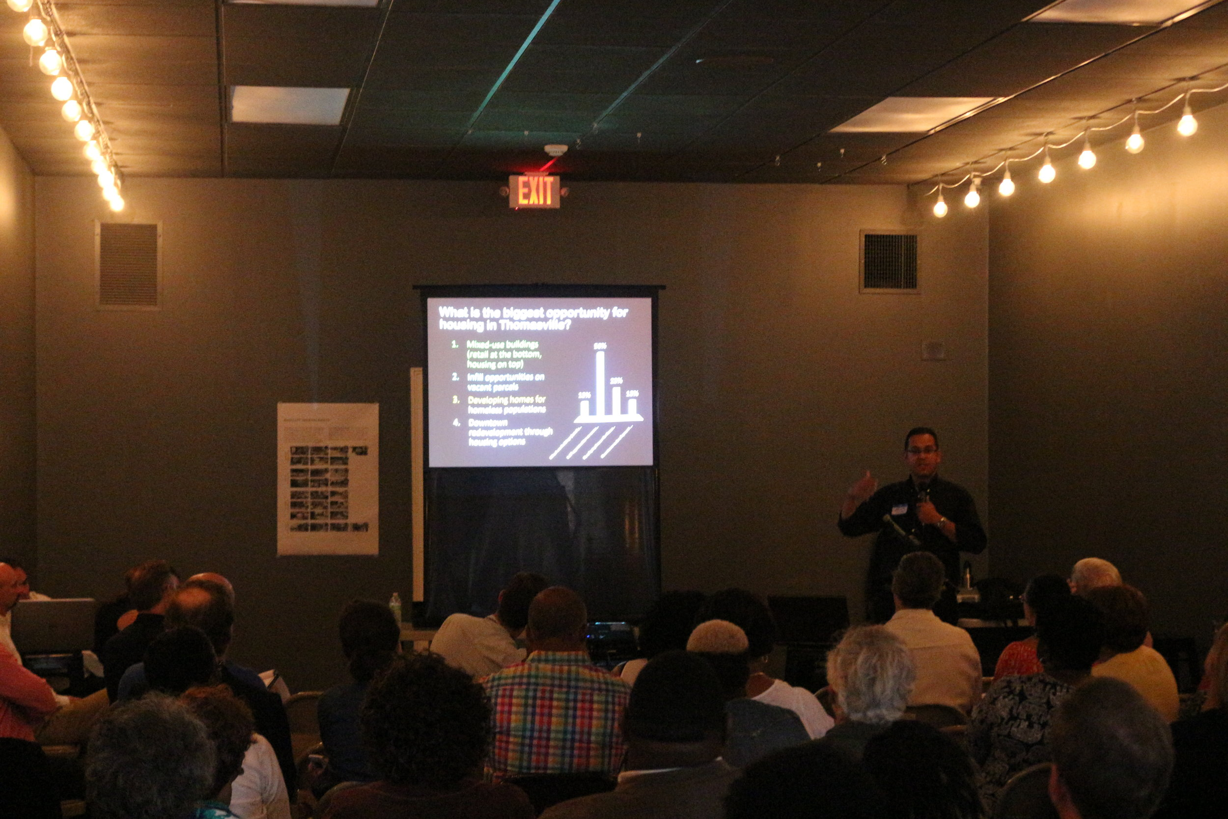 Housing options and affordability were discussed at the Work in Progress presentation.