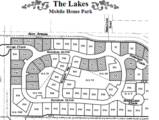 The Lakes Community Site Plan