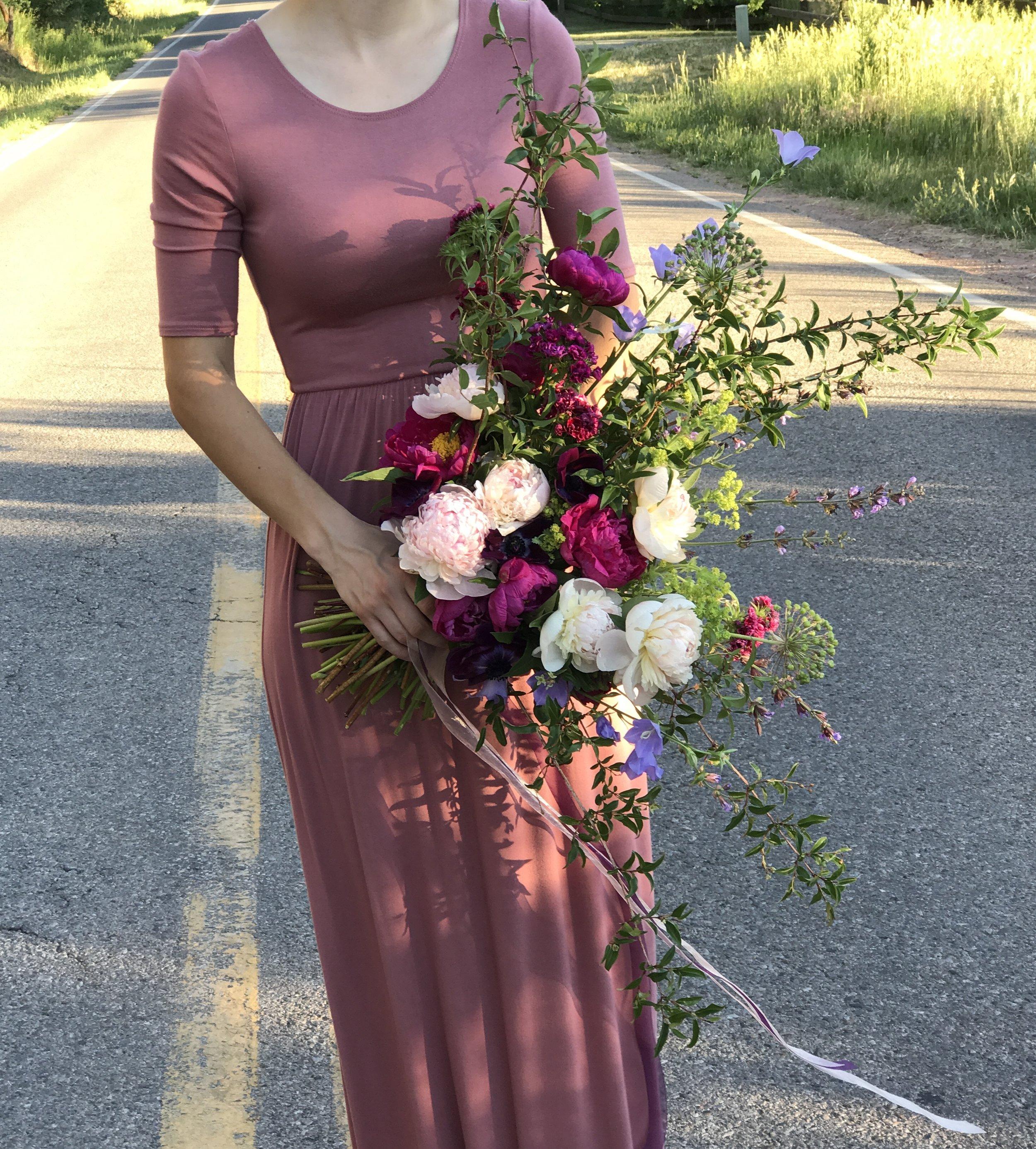 pink bouquet wild