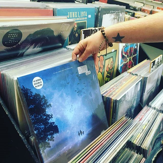 'Because I'm A Giant' is now also available in Probe Records in Liverpool, who knows maybe one day it'll be in a record store near you, or maybe Probe is near you! I'd say it fits pretty nicely there, wouldn't you?  Go pick one up if you dig it, and if you don't dig it, then pick a shovel up instead and plant a tree in the woods, I condone either option!  Tour announcement soon!  All my love,  EJANDTN xo  ###  #album #debutalbum #doublealbum #vinyl #vinylrecord #vinylcollection #vinylrecords #turntable #albumartwork #newmusic #music #indiemusic #rockmusic #folk #rock #singersongwriter #acoustic #gatefoldvinyl #vinyllovers #ejandtn #becauseimagiant