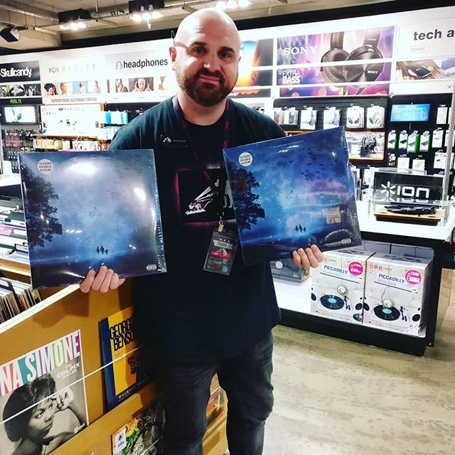 Big thanks to all the peeps at @hmv_liverpool_one for stocking 'Because I'm A Giant' vinyl! It'll be on the shelves in the next few days.  And if you didn't think it could get any better than that, well I'm afraid you're wrong, because I'll also be performing an instore show one Saturday in November. This'll be announced ASAP, so keep an eye out!  Come see me play in HMV, and pretend it's the 90's again!  All my love,  EJ  ###  #album #debutalbum #doublealbum #vinyl #vinylrecord #vinylcollection #vinylrecords #record #artwork #recordstore #independent #retail #hmv #instore #1990s #folk #indie #acoustic #ejandtn #becauseimagiant