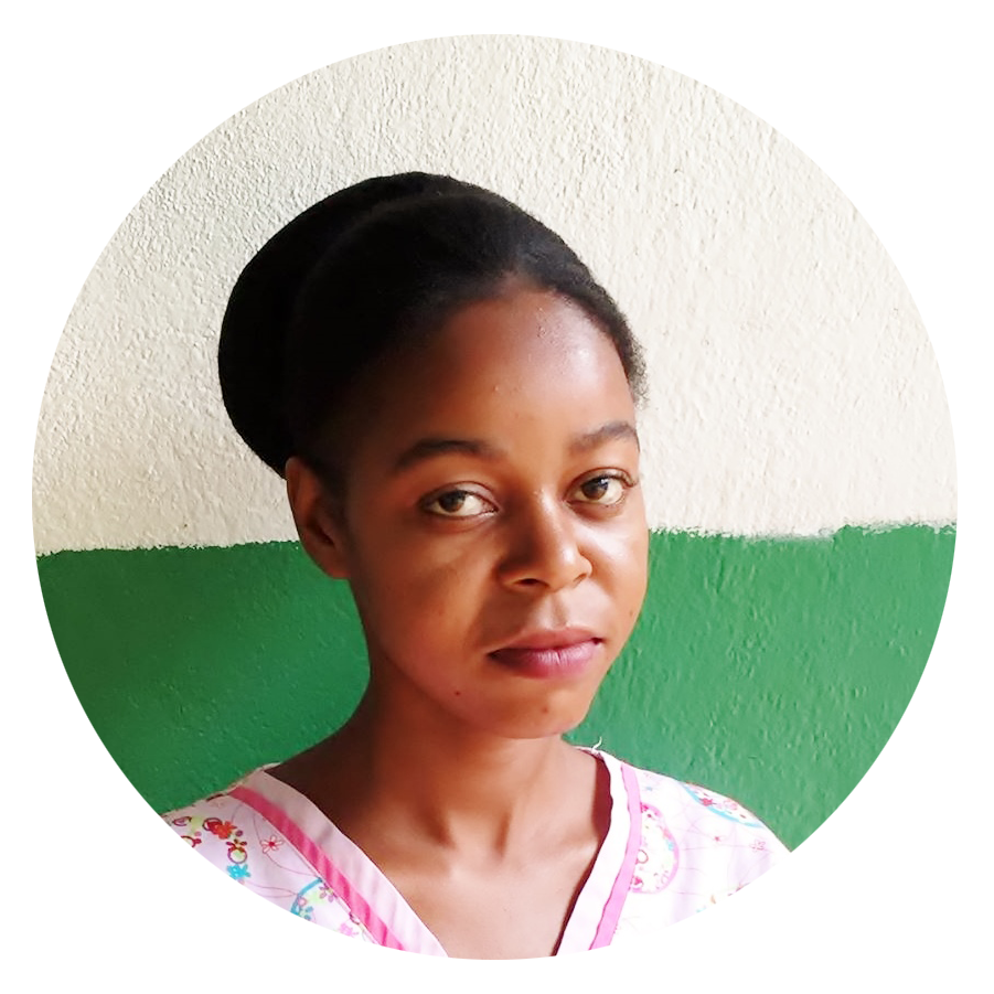Florence   Nurse   Miss Florence serves as a nurse at the Jean Wilfrid Albert Clinic. She truly enjoys her role at the clinic, especially on Tuesdays when the children come to visit her as part of the malnutrition program. Miss Florence grew up and lives in Cherident.