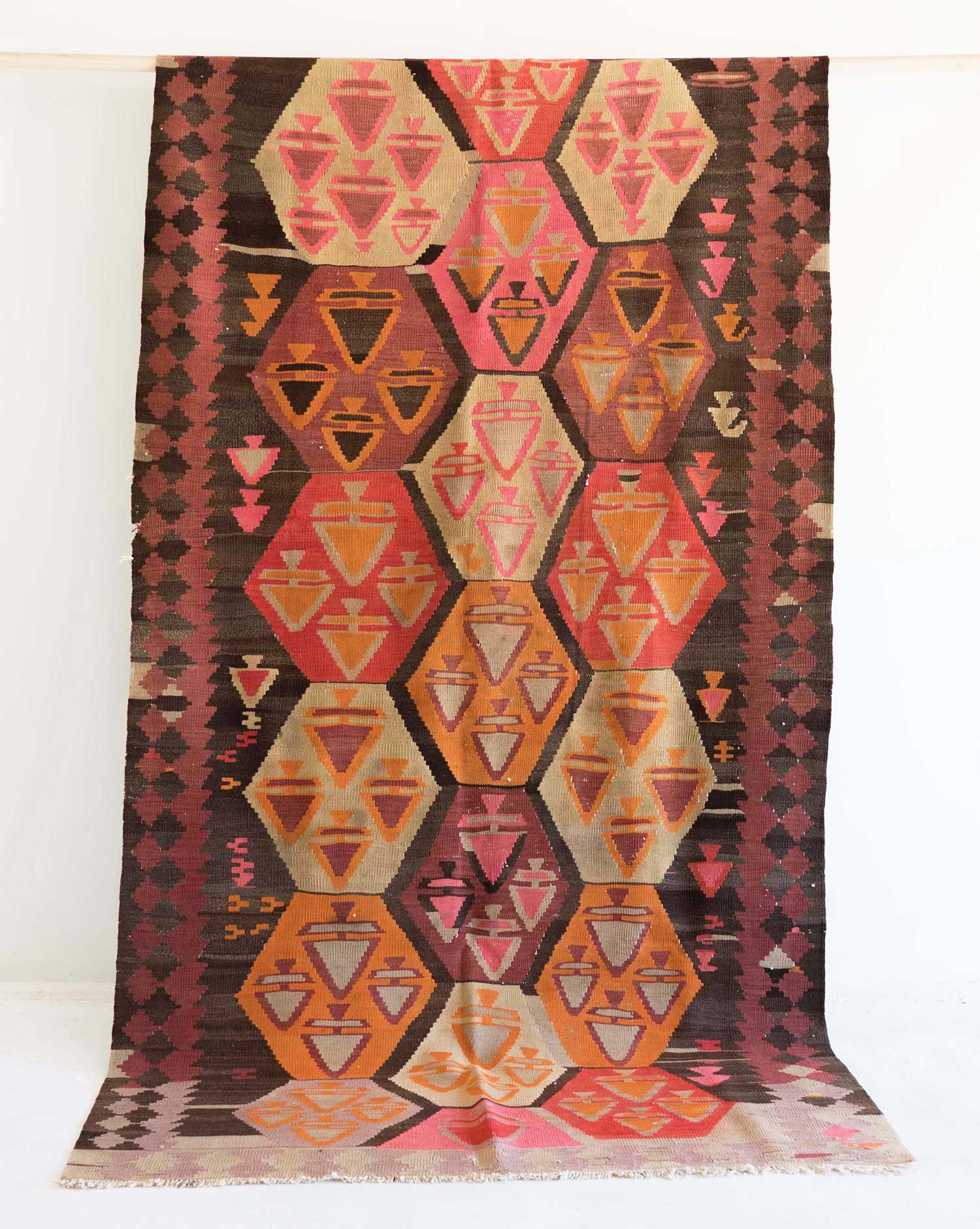 NO. 0287 /   PERSIAN KILIM (AZERBAIJAN) / 60 YEARS / 11'2 x 4'9 FT