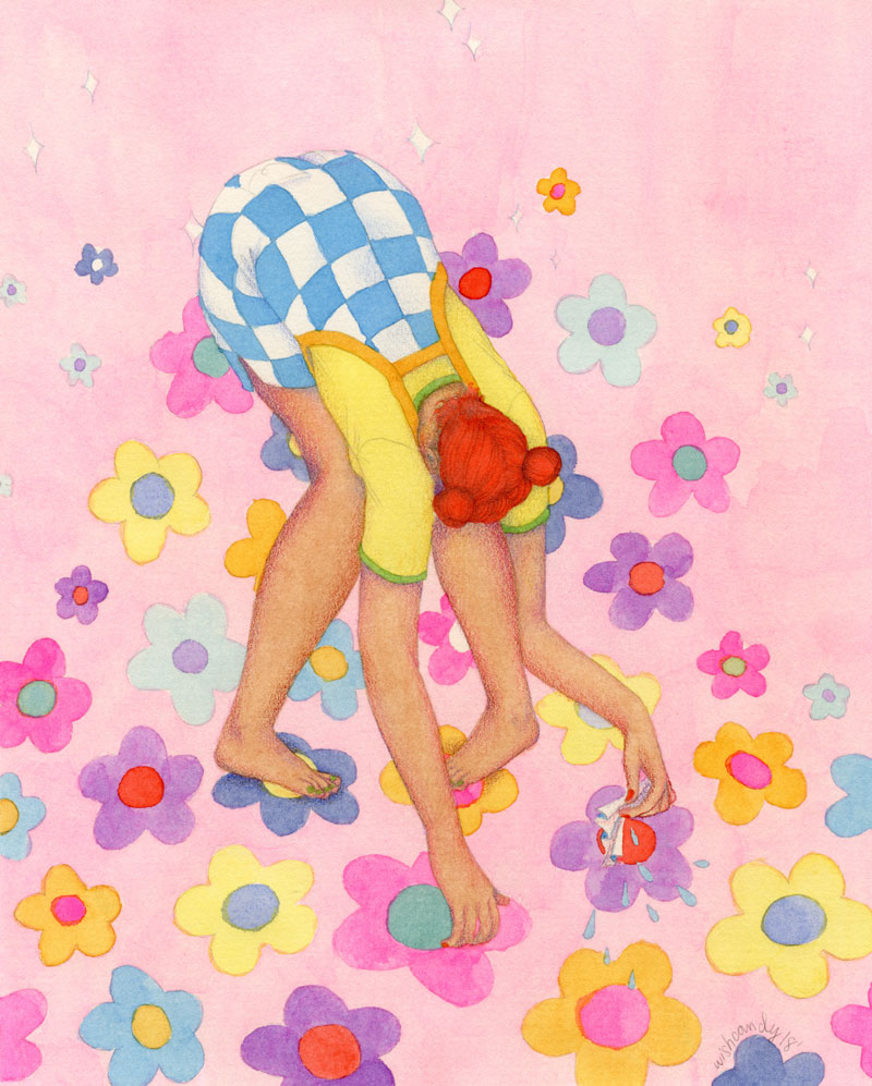 Pull yourself together   Watercolor and colored pencil, 8x10 inches. 2018.
