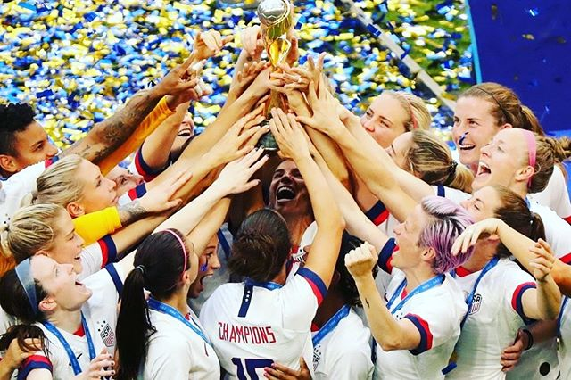 So Proud of the US Women's National Team. These people represent so many things. It's amazing to sit with my kids and watch these athletes that are incredible on the field, and even better off. These are bad ass women I am proud to represent us. Thank you for having a voice and using it. @mrapinoe @uswnt #pride #uswnt #worldcupchamps