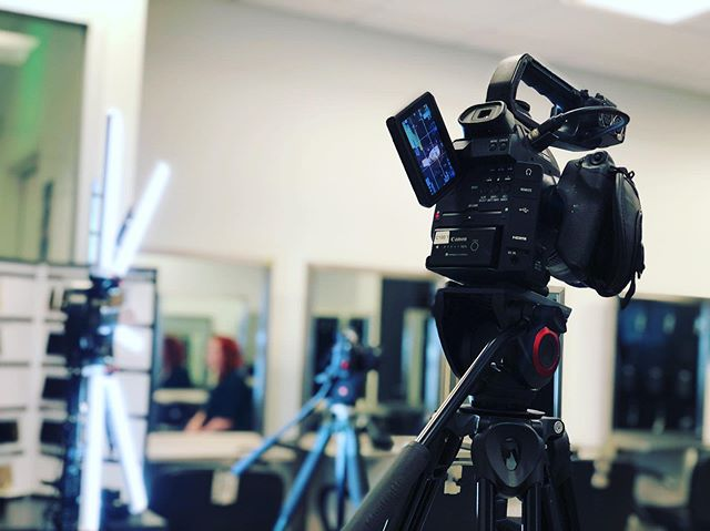 On set @gjacademy today! Getting to document some histories and dreams of people on their path! #seattlecinema #seattlephotographer #womeninfilm #canon #stellarlights