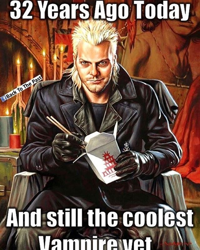 Still my favorite movie!!! #thelostboys I'd be down with a femme/queer remake of this ???? #vampire #liveforever #toomanydamnvampires @ragekage82