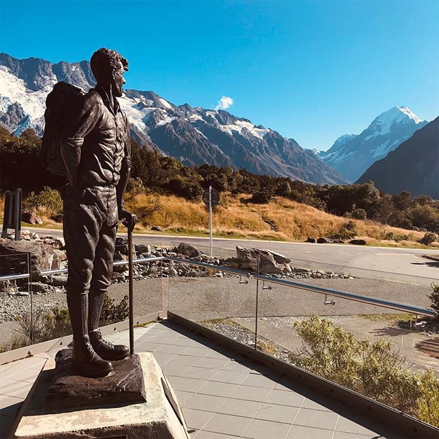 """It is not the mountain we conquer but ourselves."" - Sir Edmund Hillary #mtcook #siredmundhillary #cheekykiwi"