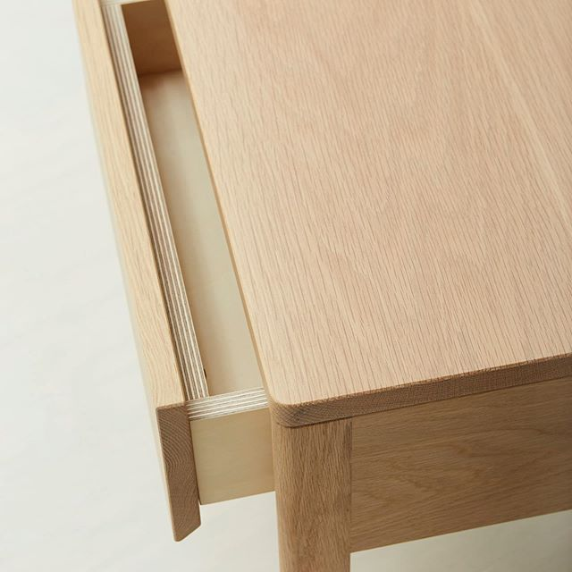 Detail of our single drawer bedside table. The #oak bedsides work beautifully as a pair or as a single addition to a bedroom.