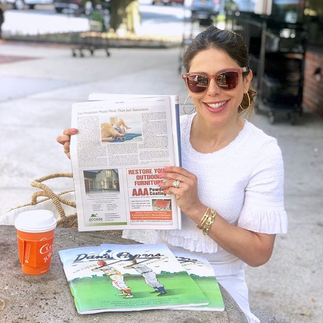 Just some casual reading... Check out my latest  article on sun protection beyond sunscreen in the current issue of  @danspapers, on stands everywhere in the Hamptons and the  North Fork!