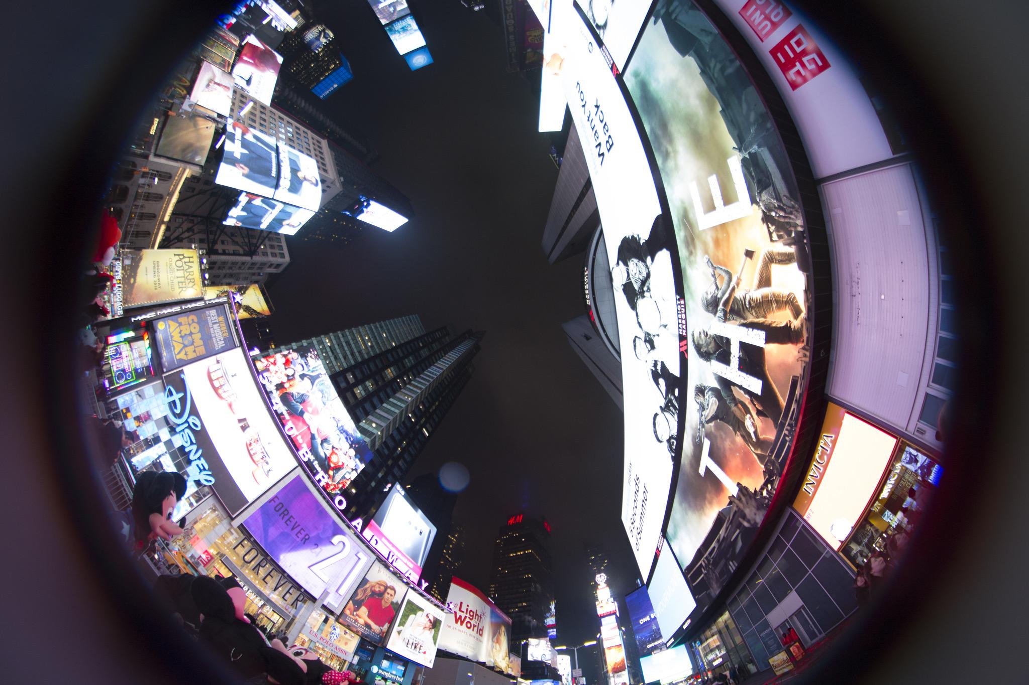 New York City - Times Square Fisheye