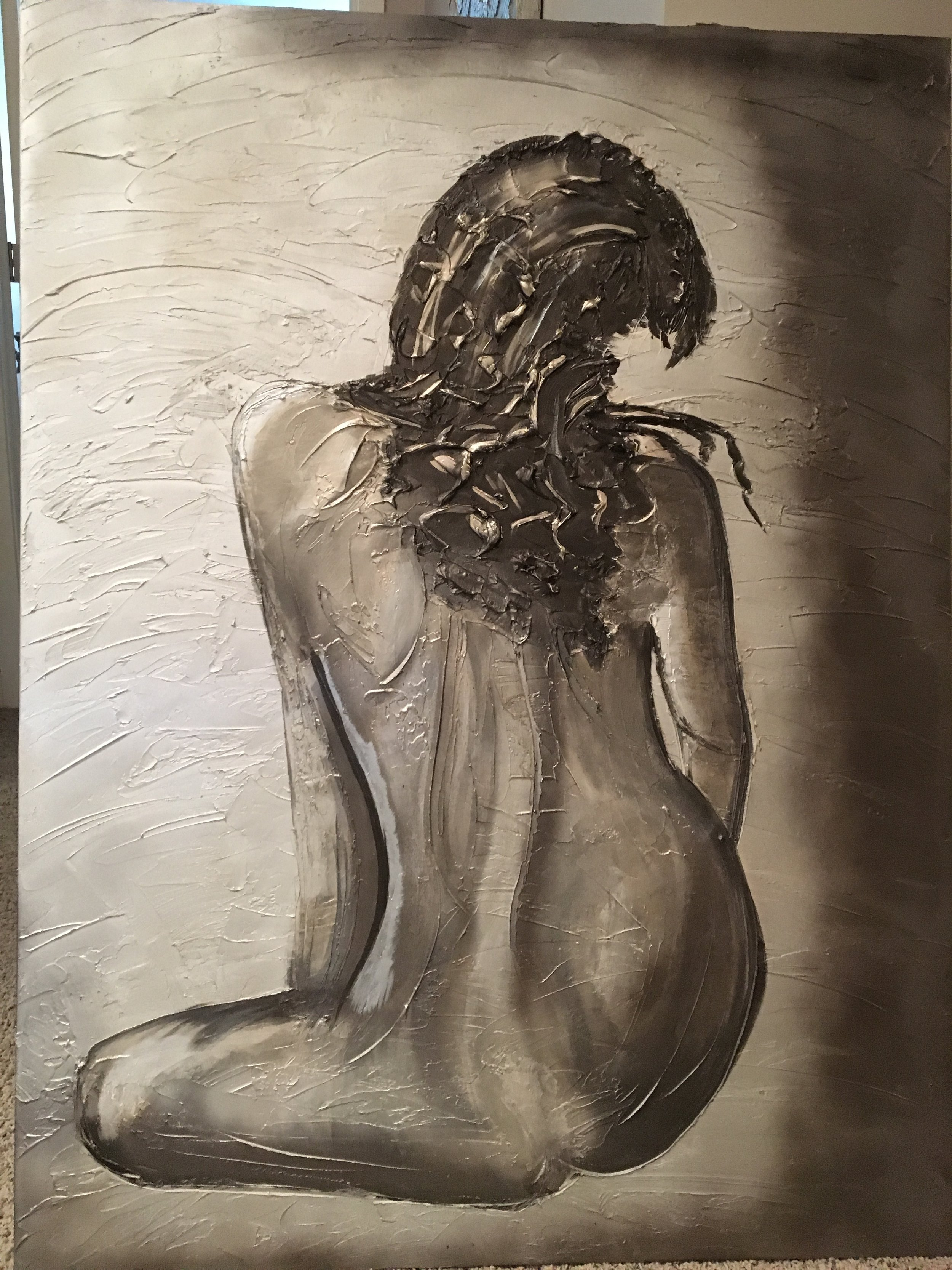 'Silhoutte' is sophisticated. Want it personalized to you or someone you know? Send me a photo! Shown in a 36x48