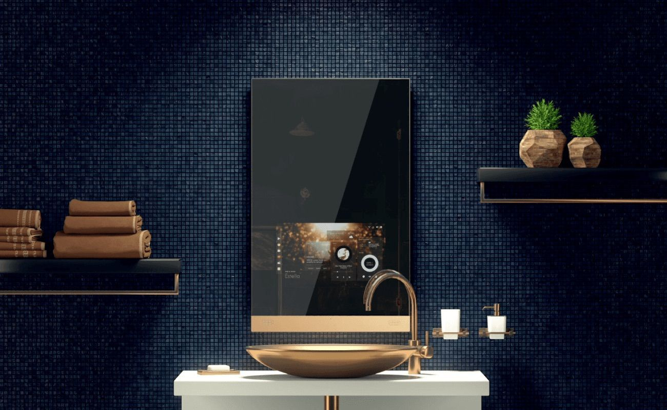 Fred One-Touch Home Mirror   Start your day looking with the world's first luxurious mirror.