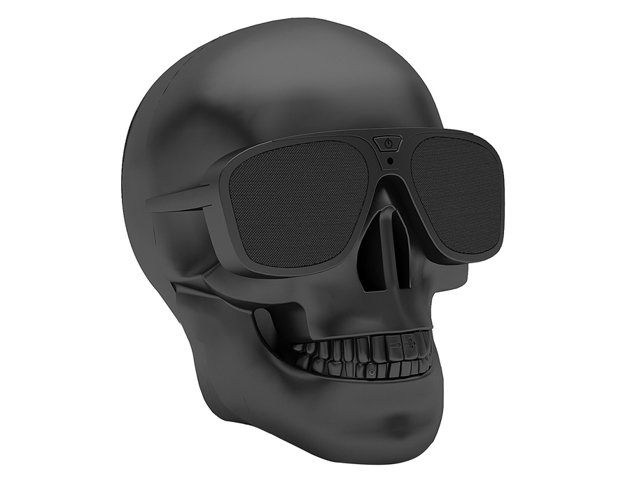 Skull Bluetooth Speaker - Put some music on to add some motivation and to release your stress with the Skull Bluetooth Speaker. Aside from the outstanding design, the skull is discreetly a high-quality speaker. You can connect via Bluetooth or 3.5 mm line cable. There's a button on the middle of the sunglasses to turn on and off. On the teeth, there's a circle which signals if the Bluetooth is paired and on the upper teeth you can see a button to increase or decrease your desired volume.