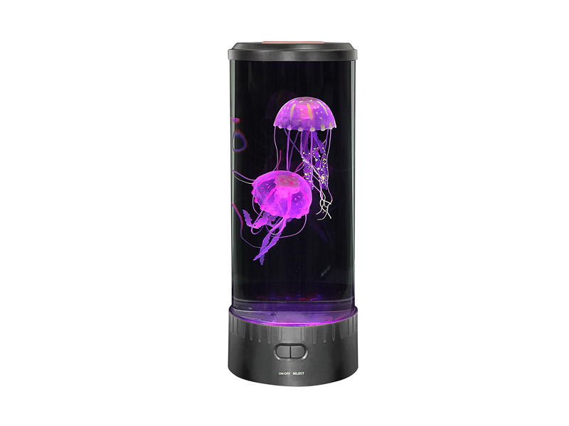 LED Fantasy Jellyfish Lamp - Release your stress with LED Fantasy Jellyfish Lamp. Too cool to be true, you can watch a lifelike moving jellyfish in your office desk that can give you a smooth, tranquil and peaceful ambience. The gadget comes with two jellyfish, 18 different led coloured lights and a UL adapter. Great gift for anyone who loves the ocean.