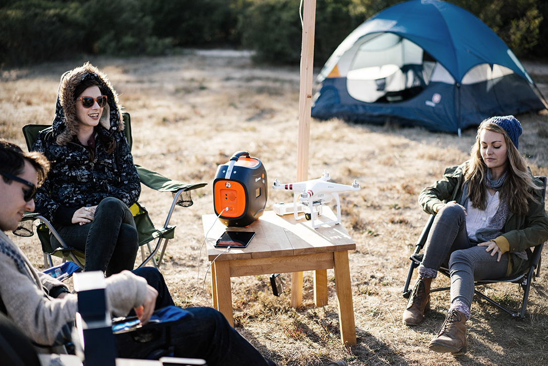 Jackery Power Pro - The Jackery Power Pro known as the mini portable solar and battery powered generator that is easy to carry around with its sturdy carrying handle.